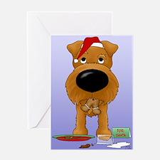 Irish Terrier Santa Greeting Card