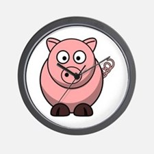 Cute Pig Wall Clock