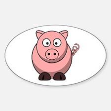 Cartoon Pig Decal
