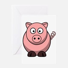 Cartoon Pig Greeting Cards