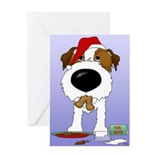 Jack Russell Terrier Santa Greeting Card