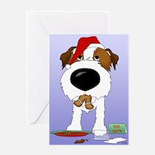 Jack Russell Terrier Santa Greeting Card