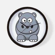 Funny Hippos Wall Clock