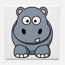 Unique Hippo Tile Coaster