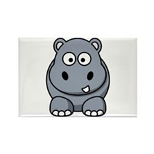 Cute Hippo Rectangle Magnet