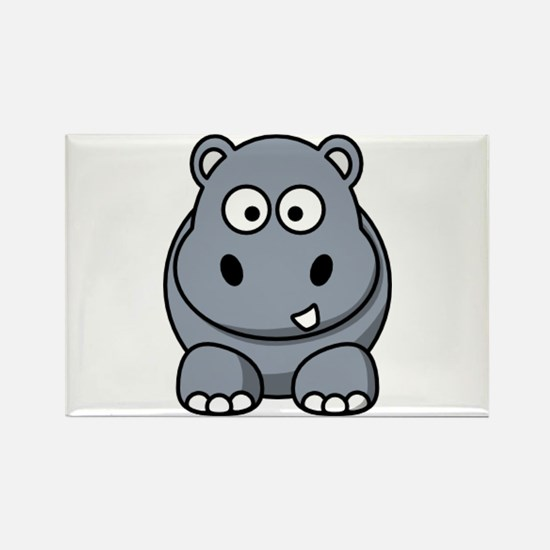 Funny Hippo Rectangle Magnet