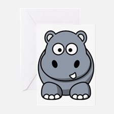 Cute Hippo Greeting Cards (Pk of 10)