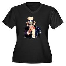 Unique Anarchy Women's Plus Size V-Neck Dark T-Shirt