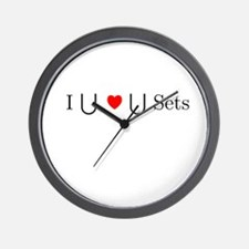 I Heart Sets Wall Clock