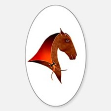 classical horse profile Oval Decal