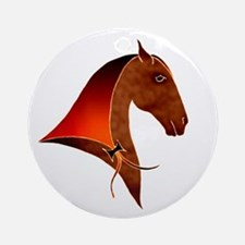 classical horse profile Ornament (Round)