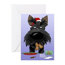 Scottie Santa's Cookies Greeting Cards (Pk of 10)