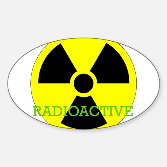 Radioactive Oval Decal