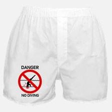 Danger No Diving Boxer Shorts