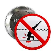 "Danger No Diving 2.25"" Button"