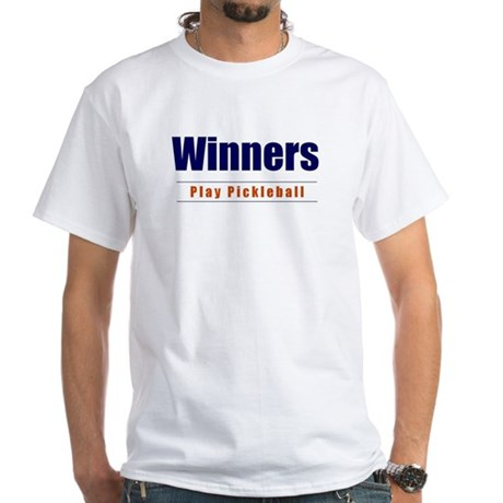 Winners Play Pickleball White T-Shirt