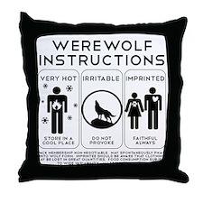 Werewolf Instructions Throw Pillow