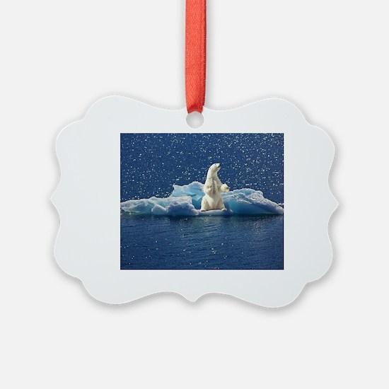 Cute Polar bears Ornament