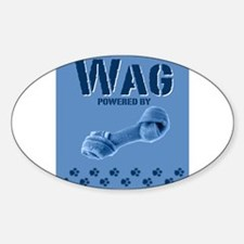 Wag, powered by... Oval Decal