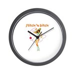 Official STITCH 'N BITCHT Wall Clock