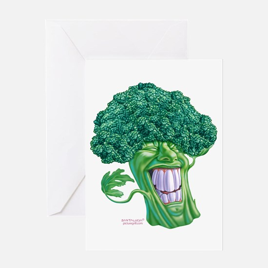 Unique Broccoli Greeting Card