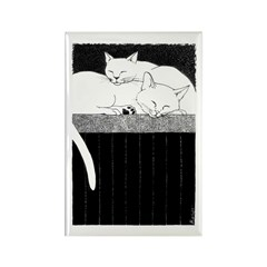 Double Trouble - Cats Rectangle Magnet