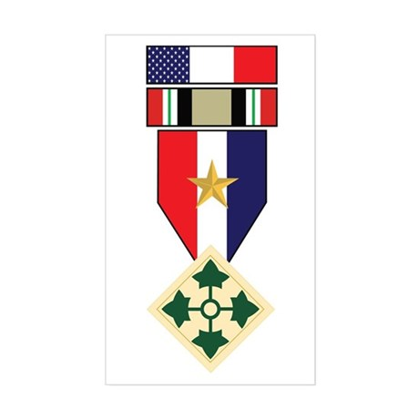 4th INF Iraq War Campaign Rectangle Sticker