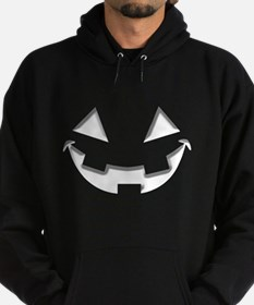 Smiley Halloween White wn Hoodie (dark)