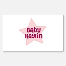 Baby Kaylin Rectangle Decal