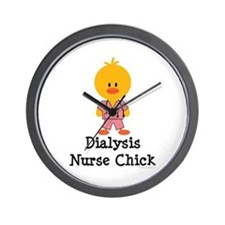 Dialysis Nurse Chick Wall Clock