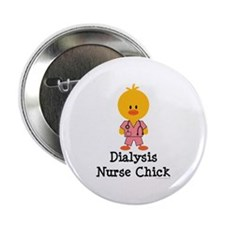 "Dialysis Nurse Chick 2.25"" Button (100 pack)"
