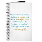 Morning sickness warning, funny Journal