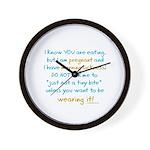 Morning sickness warning, funny Wall Clock