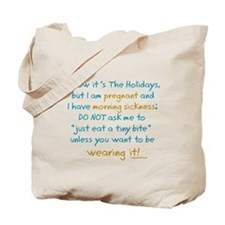 Funny holiday pregnancy Tote Bag