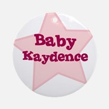 Baby Kaydence Ornament (Round)