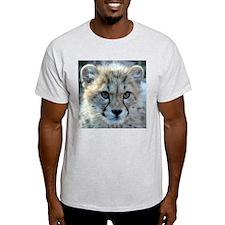 Cheetah Cub Ash Grey T-Shirt