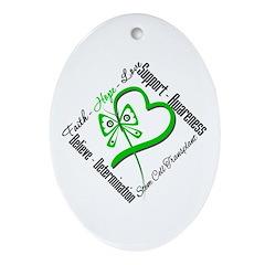 StemCellTransplant Heart Oval Ornament