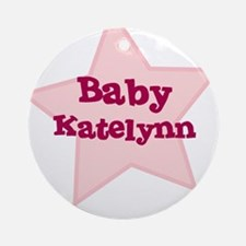 Baby Katelynn Ornament (Round)