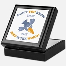 The Bird Is The Word Keepsake Box