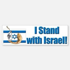 I Stand with Israel 2 Bumper Bumper Bumper Sticker