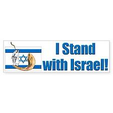 I Stand with Israel 2 Bumper Bumper Sticker
