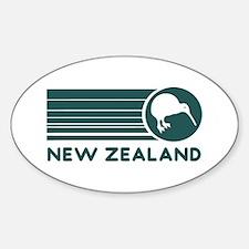 New Zealand Kiwi Stripes Oval Decal