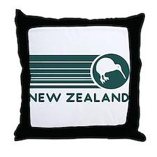 New Zealand Kiwi Stripes Throw Pillow