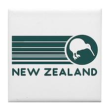 New Zealand Kiwi Stripes Tile Coaster