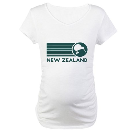 New Zealand Kiwi Stripes Maternity T-Shirt