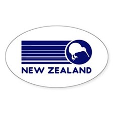 Blue New Zealand Kiwi Oval Decal