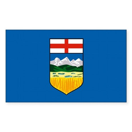 Alberta Canada Flag Rectangle Sticker