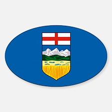 Alberta Canada Flag Oval Decal
