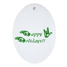 Holiday Oval Ornament