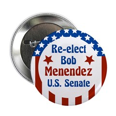 Re-elect Bob Menendez campaign button